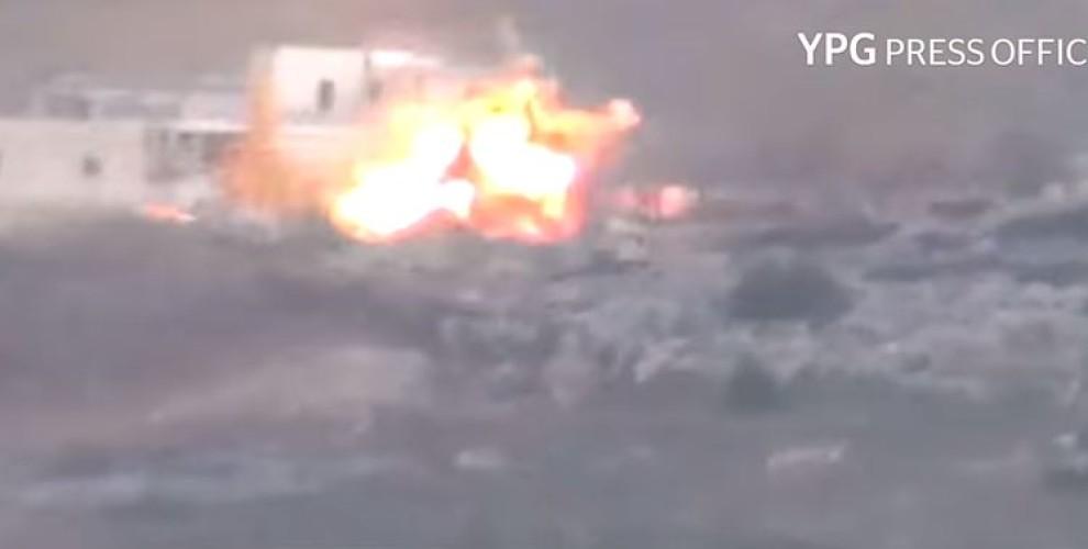 YPG'ê dîmenê rûxandina wesayîta dagirkeran weşand