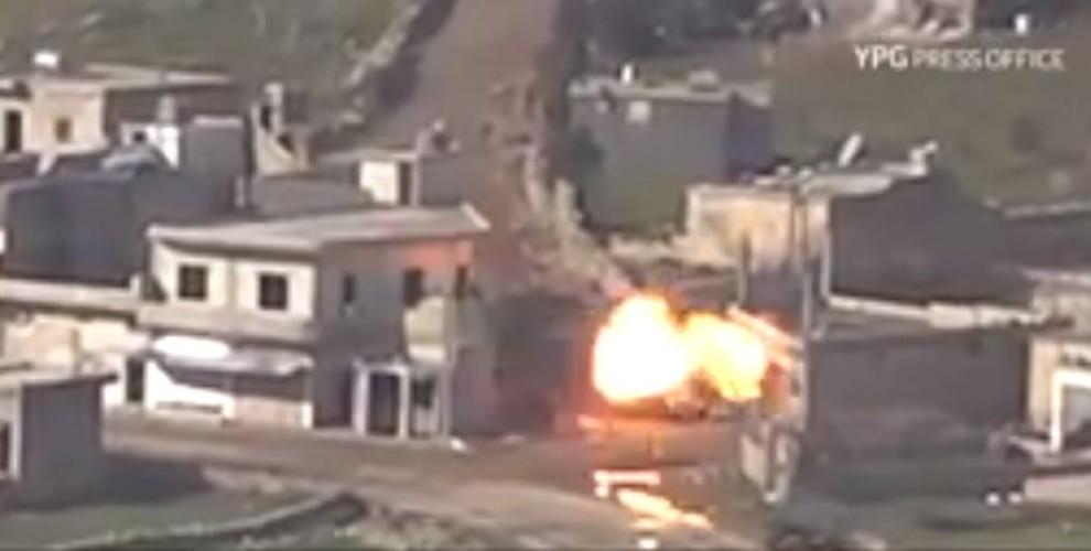 YPG'ê wesayîteke din a leşkerî ya artêşa Tirk rûxand